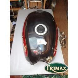 Réservoir Triumph standard n°3 noir et rouge